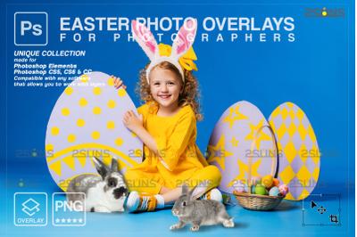 Easter digital backdrops & Photoshop overlay: Easter bunny overlay