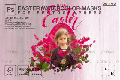 Easter Watercolor overlay & Photoshop overlay