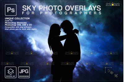 Photoshop overlay Night sky overlay & Night sky backdrop