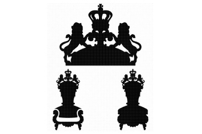 thrones svg, clipart, png, dxf logo