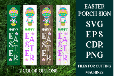 Easter Porch Sign with Bunny SVG