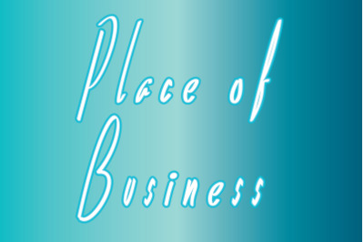 place of business