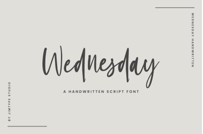 Wednesday | A Handwritten Font
