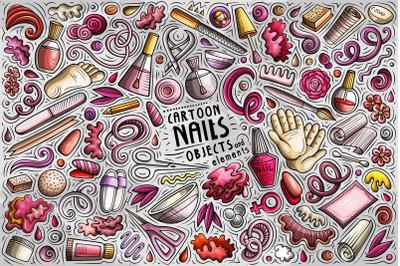Nail Studio Cartoon Objects Set