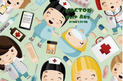 Doctor ClipartSVG | Set of 24