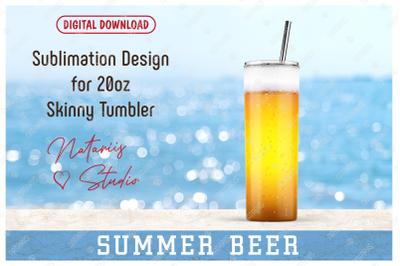 Realistic Beer Pattern for 20oz SKINNY TUMBLER.