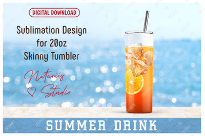 Realistic Drink Pattern for 20oz SKINNY TUMBLER.