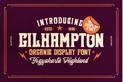 Gilhampton - Organic Typeface