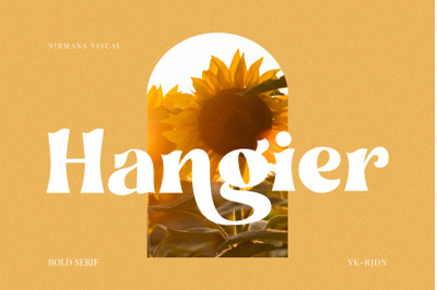 Hangier - Vintage Bold Serif