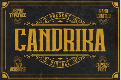 Candrika - Vintage Label Display Typeface