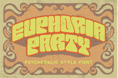 Euphoria Party - Psychedelic Style Font