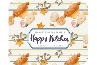 Happy Kitchen - Homemade food digital paper