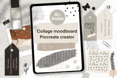 Procreate moodboard paper collage