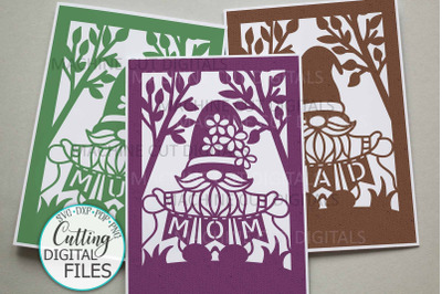 Mom Mum Dad svg cut out card Mothers day Fathers day cards