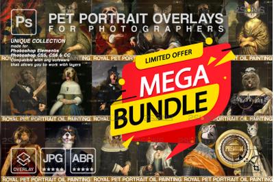 MEGA BUNDLE Royal Pet Portrait templates Digital pet