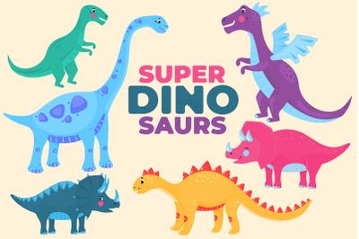 Super Dinosaurs Sublimation Design.