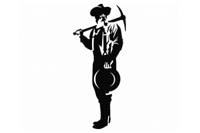 american frontier prospector svg, clipart, png, dxf logo