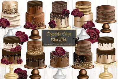 Chocolate Cakes Clip Art