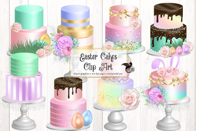 Easter Cakes Clipart
