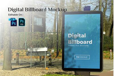 Digital Billboard Mockup