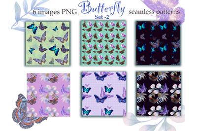Butterflies Digital Paper,seamless pattern