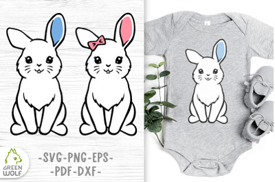 Easter bunny svg Bunny clipart Cute farm animals svg cut files