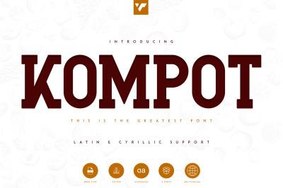 Kompot Slab Serif - 2 Fonts