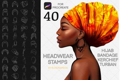 Headwear Procreate Brush Stamp. Hats