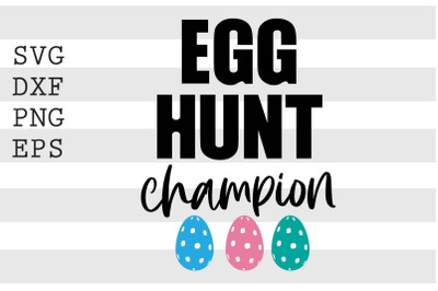 Egg hunt champion SVG