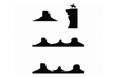 monument valley svg, clipart, png, dxf logo