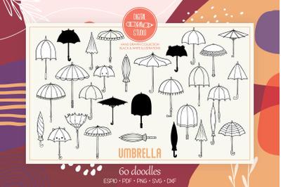 Umbrella | Hand Drawn Vintage Beach Parasol