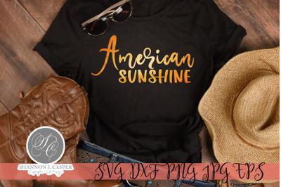 American Sunshine SVG