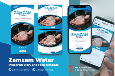 Zamzam Water Promotion Instagram Story and Feed Template