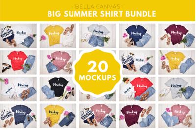 Big Summer Shirt Mock up Bundle