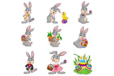 Set of Nine Easter Bunny | Easter Eggs