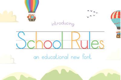 School Rules Font (Teacher Fonts, School Fonts, Learning Fonts)