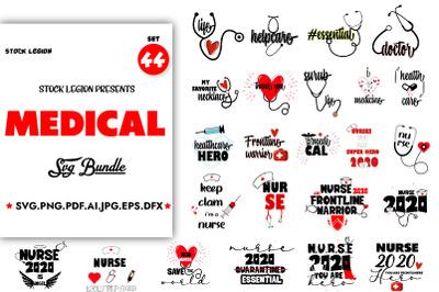 44 Medical SVG Bundle