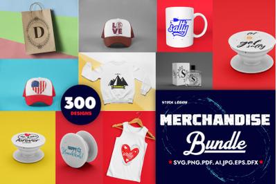 300 Merchandise SVG Cricuts