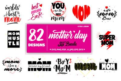 82 Mothers Day SVG Bundle