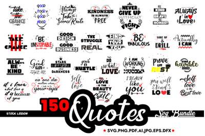 Tags left 150 Quotes Svg Bundle