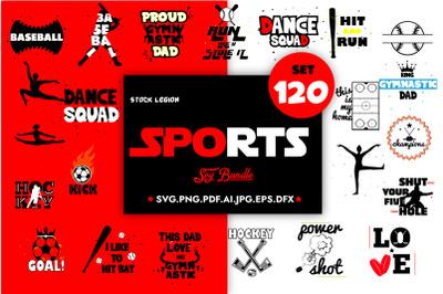 120 Sports Svg Bundle