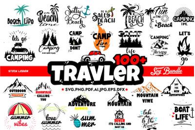 100+ Traveler SVG Bundle
