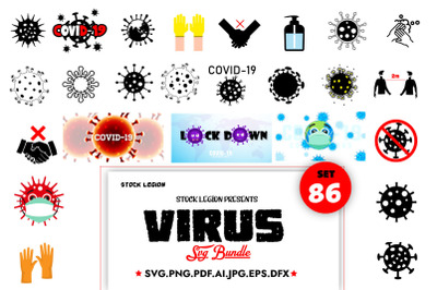 86 Virus Svg Bundle
