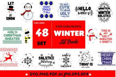 48 Winter Svg Bundle