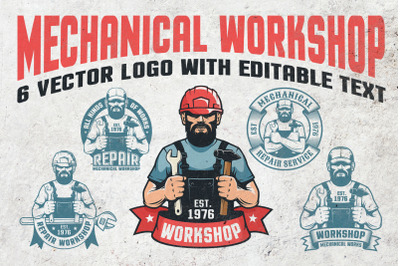 Mechanical Workshop Handyman Logo