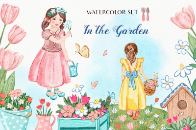 In The Garden - Watercolor Collection