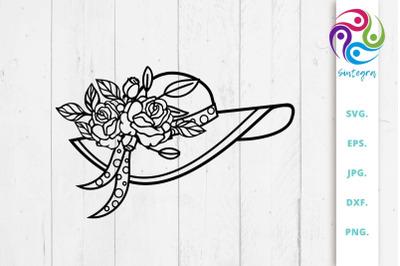 Floral Summer Hat SVG File