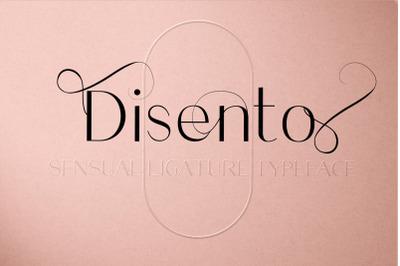 Disento Sensual Ligature Sans Serif Typeface