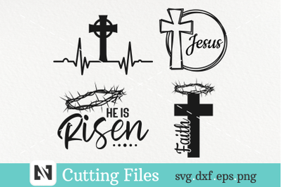 Easter Svg Bundle, Jesus Svg, Cross Svg, Christian Svg