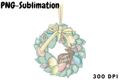 Wreath Sublimation   Easter Bunny